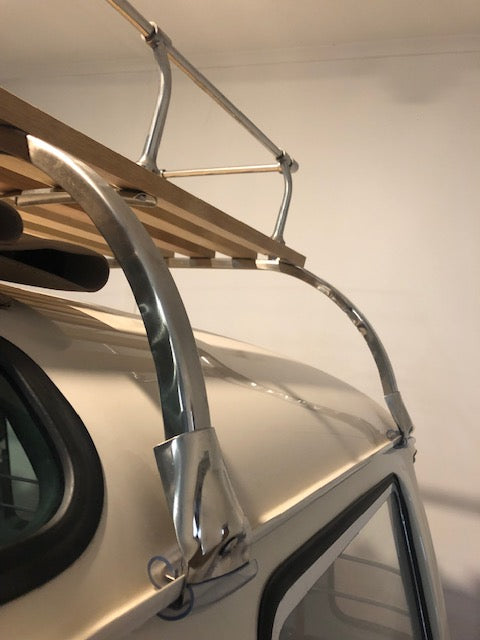 Roof Rack - 6 bow stainless steel and timber