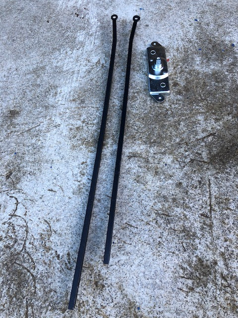 Split Screen Bus 1962 - 1967 Cargo Door Lock and Rods (Left Door on RHD Bus)