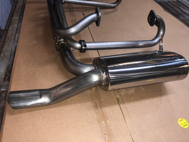 A1 Racing Exhausts Polished Stainess sidewinder for Split Bus (extended tailpipe)