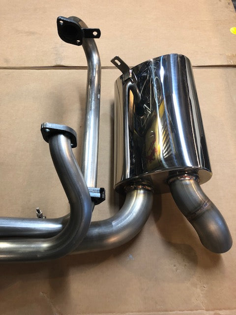 A1 Racing Exhausts Polished Stainless sidewinder exhaust for Split Bus (hidden tailpipe)