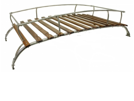 Roof Rack - 2 bow stainless steel and timber