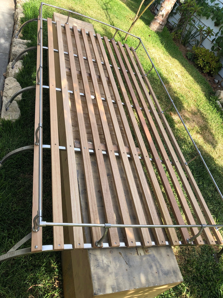 Roof Rack - 5 bow stainless steel and timber