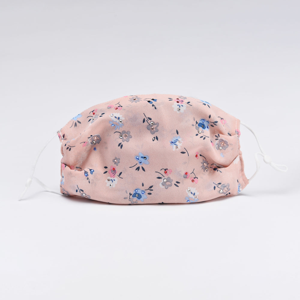 PINK FLOWERS MASK - MS106