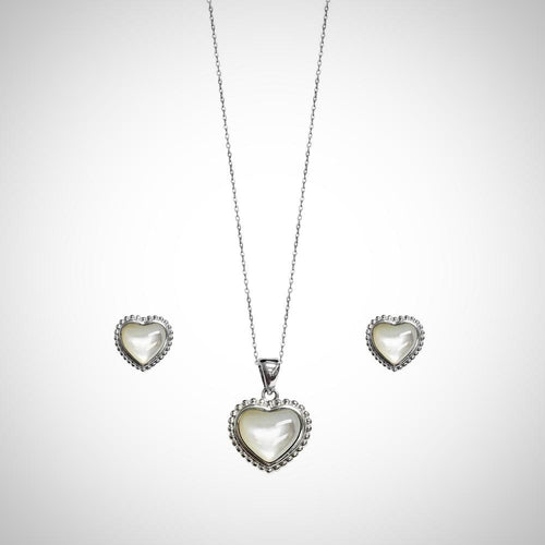 PURE WHITE- STERLING SILVER SET2107