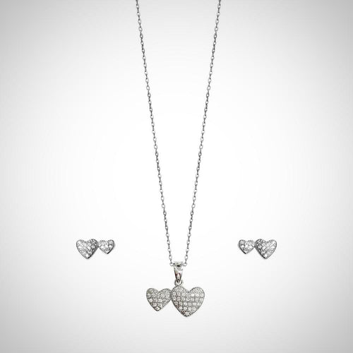 TINY HEARTS- STERLING SILVER SET2116