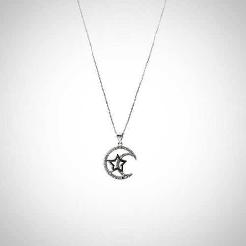 MOON & STAR - STERLING SILVER SET2105