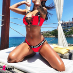 Sexy Love Brazilian Bikini with Cross String Bust | Lascivious Lady Online Store