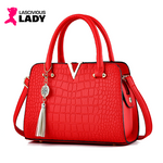 Crocodile Pattern PU Leather Handbag - Lascivious Lady Online Store
