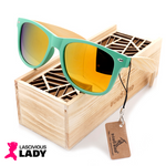 Trendy Bamboo Sunglasses with Wooden Storage Box - Lascivious Lady Online Store