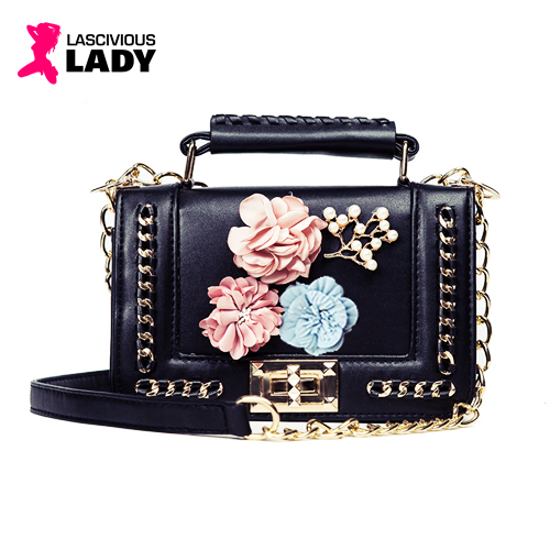 Flowers & Chains Designer Crossbody Bag - Lascivious Lady Online Store