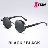 Gothic Steampunk Round Sunglasses - Lascivious Lady Online Store