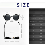 Gothic Steampunk Round Sunglasses - Lascivious Lady Online Store - Size Chart