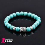 Natural Stone Beads - Buddha Head Bracelet - Lascivious Lady Online Store