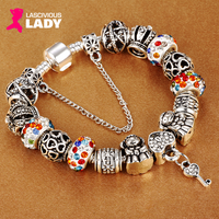 Pandora Style Silver Plated Charm Bracelet - Lascivious Lady Online Store
