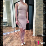 Sexy Figure Hugging One-Shoulder Party Dress | Lascivious Lady Online Store