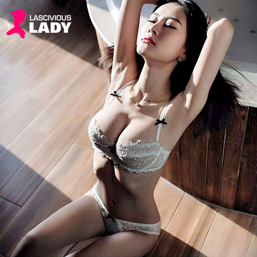 Ultra-thin Sexy Transparent Lace Bra & Panty Set - Lascivious Lady Online Store