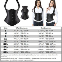 Steampunk Corset - Steelboned - Black Satin - Lascivious Lady Online Store