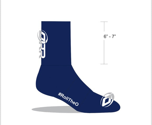 ORR FACTORY TEAM  CYCLING SOCKS NAVY - Unisex STANDARD