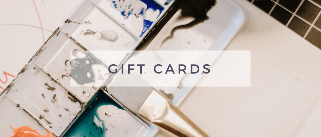 Indigo & Violet Studio - Gift Cards text + watercolor painting