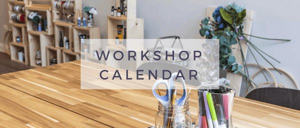 Workshop Calendar - BYOB Craft Workshops at Indigo & Violet Studio