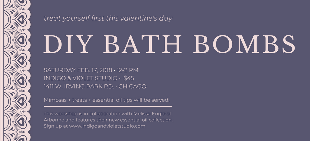 DIY bath bombs - indigo & violet studio chicago workshop space - art classes lakeview
