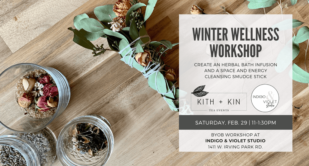 Indigo & Violet Studio - Winter Wellness Workshop - Kith + Kin mindfulness + mediation collaboration - February 29