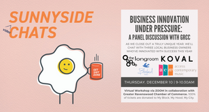 Sunnyside Chats - Virtual Chat - Business Innovation Under Pressure - A Panel Discussion with GRCC - December 10