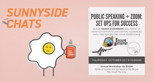 Sunnyside video Chats - Public Speaking + Zoom set up for success - October 22 via zoom