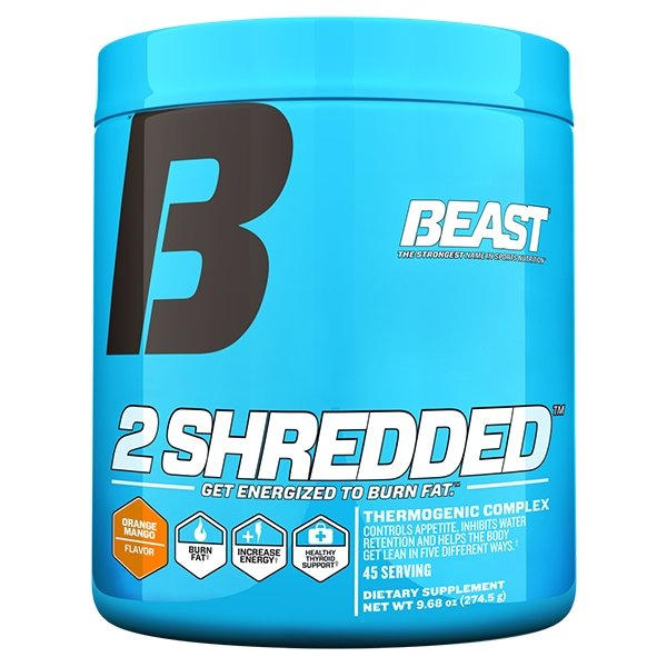 2 SHREDDED | BEAST SPORTS NUTRITION - Tassie Supps - FAT BURNERS / DETOX / WEIGHT LOSS