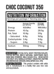 35G COCONUT ROUGH - REAL MILK CHOCOLATE - 35G CARTON | VITAWERX - Tassie Supps - Snacks