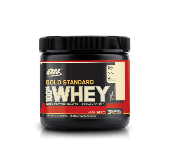 3srv Vanilla Ice Cream | 100% WHEY | OPTIMUM NUTRITION - Tassie Supps - Protein