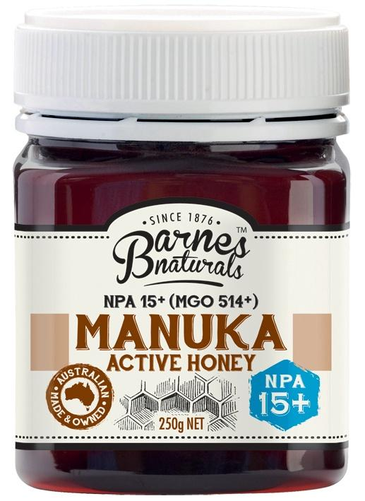 ACTIVE MANUKA HONEY 15+ | BARNES NATURALS - Tassie Supps - PANTRY