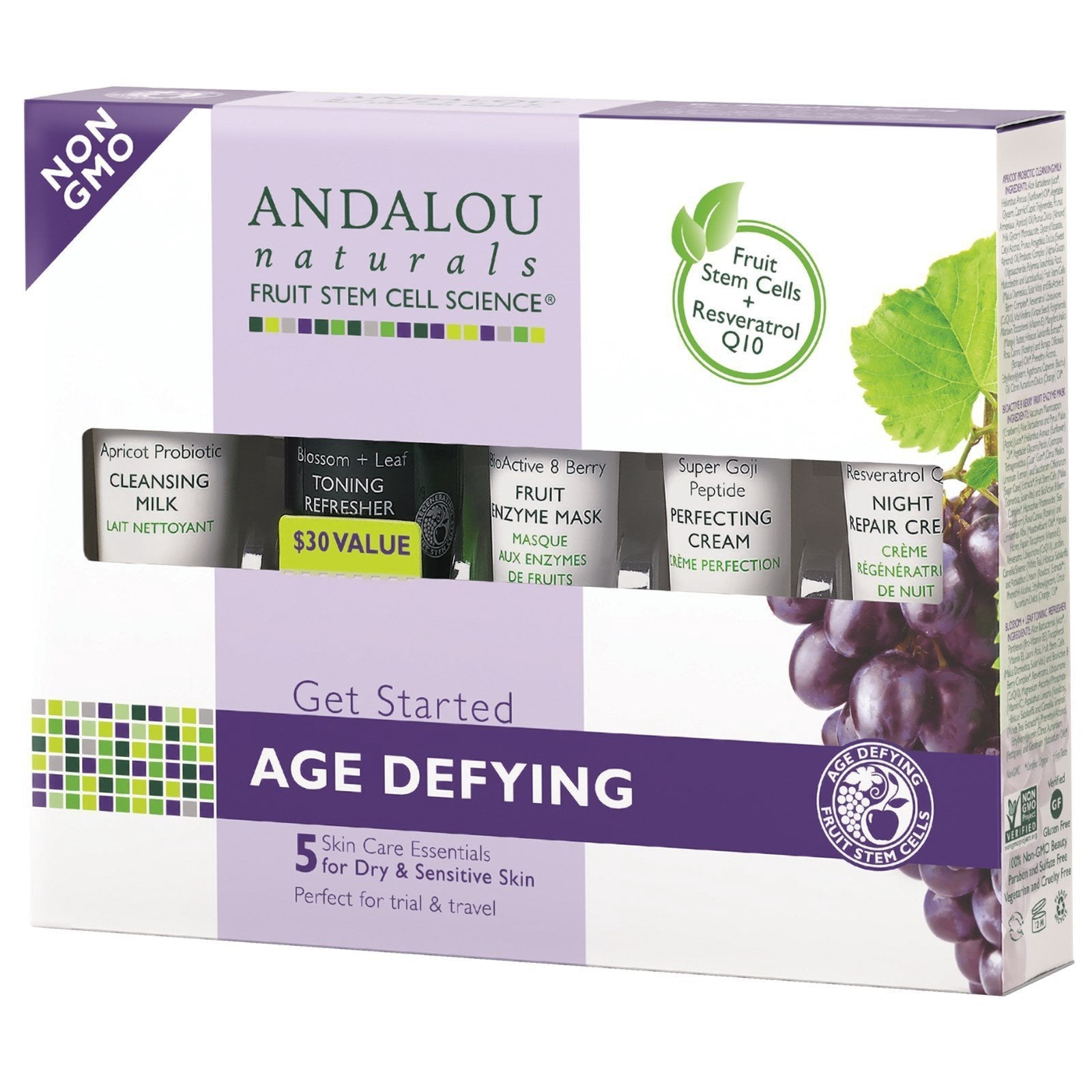 Age Defying Trial & Travel Pack 5 mini's by ANDALOU NATURALS - Tassie Supps - Personal Hygiene