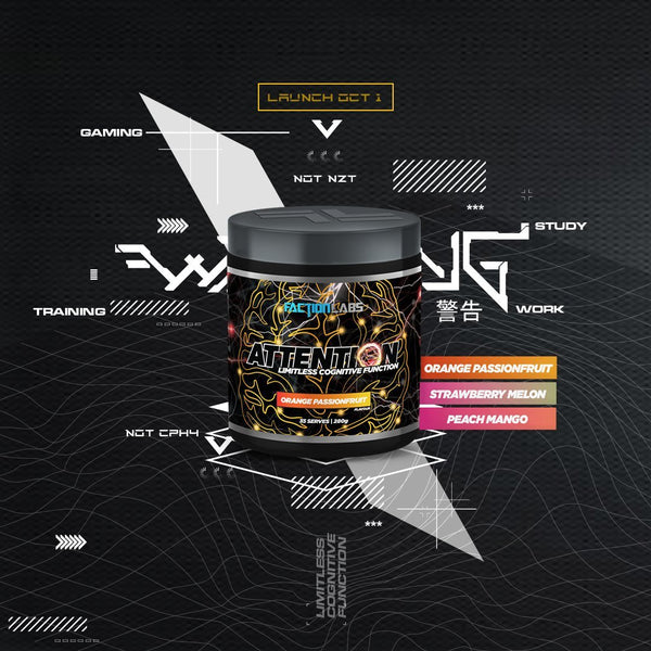 ATTENTION | FACTION LABS - Tassie Supps - Pre-Workout