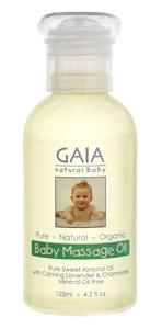 Baby Massage Oil 125ml by GAIA NATURAL BABY - Tassie Supps - PANTRY