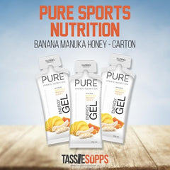 BANANA MANUKA HONEY - CARTON - PURE FLUID ENERGY GEL | PURE SPORTS NUTRITION - Tassie Supps - Snacks