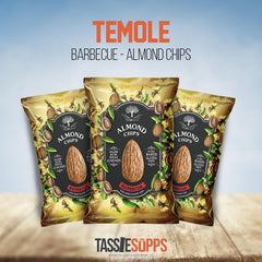 BARBECUE - LOW CARB - ALMOND CHIPS | TEMOLE - Tassie Supps - Snacks