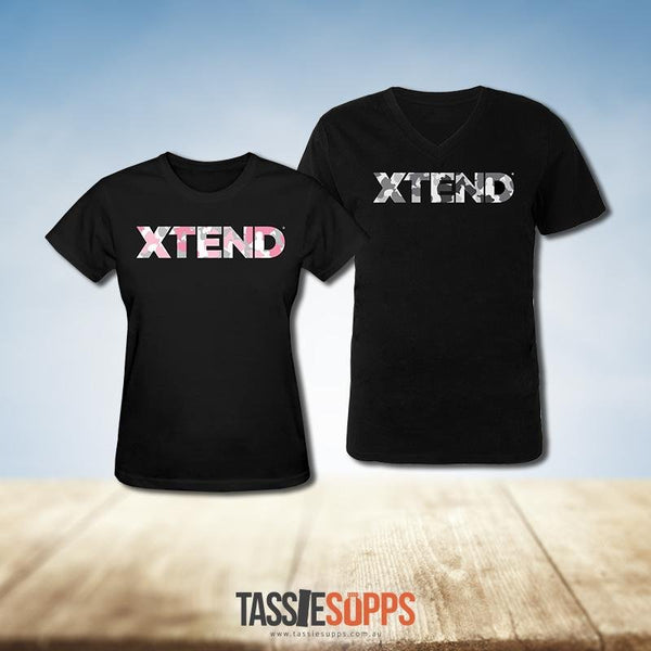 BLACK CAMO TEE | XTEND - Tassie Supps - Promo Products / Must be free to us