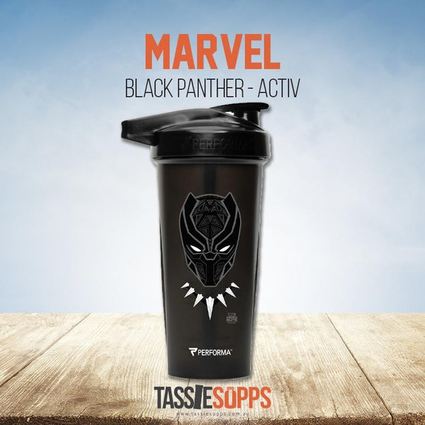 BLACK PANTHER - ACTIV SHAKER CUP - MARVEL | PERFECT SHAKER - Tassie Supps - Shakers / Bottles
