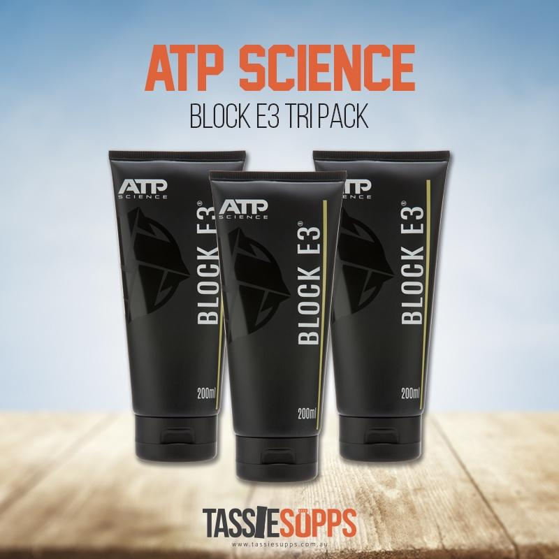 BLOCK E3 CREAM - TRI PACK | ATP SCIENCE - Tassie Supps - HORMONE SUPPLEMENTS