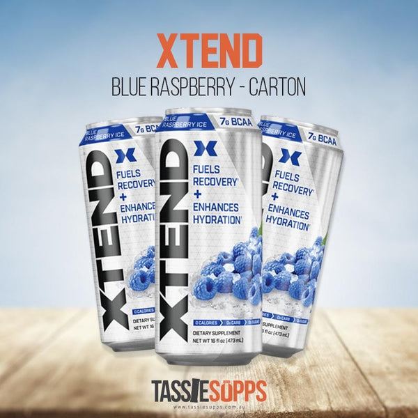BLUE RASPBERRY - CARTON - XTEND BCAA - CARBONATED DRINK | XTEND - Tassie Supps - Ready To Drink (RTD)