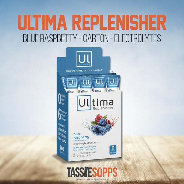 BLUE RASPBERRY - STICK PACK CARTON - KETO ELECTROLYTES + TRACE MINERALS | ULTIMA REPLENISHER - Tassie Supps - KETO
