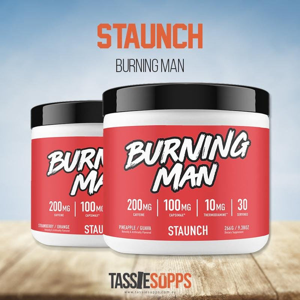 BURNING MAN - FAT BURNER | STAUNCH - Tassie Supps - FAT BURNERS / DETOX / WEIGHT LOSS