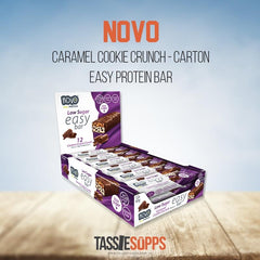 CARAMEL COOKIE CRUNCH - CARTON - EASY BAR - LOW SUGAR HIGH PROTEIN BAR | NOVO - Tassie Supps - Snacks