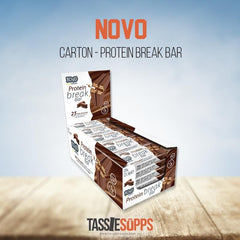 CARTON - 25x PROTEIN CHOCOLATE BREAK | NOVO - Tassie Supps - Snacks