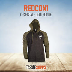 CHARCOAL - LIGHT HOODIE | REDCON1 - Tassie Supps - APPAREL / CLOTHING / BAGS etc