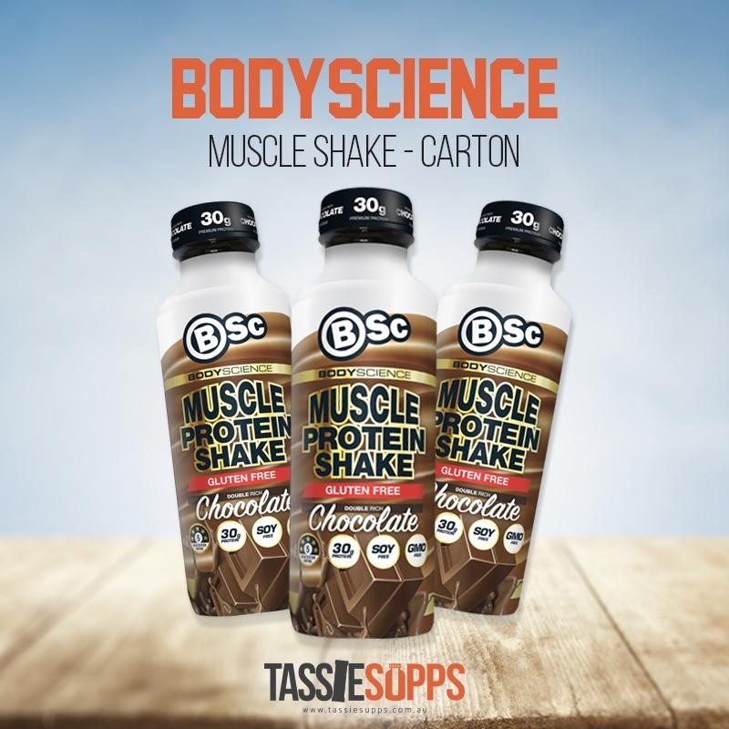 CHOCOLATE - CARTON - MUSCLE PROTEIN SHAKE - RTD | BSc - BODYSCIENCE - Tassie Supps - Ready To Drink (RTD)
