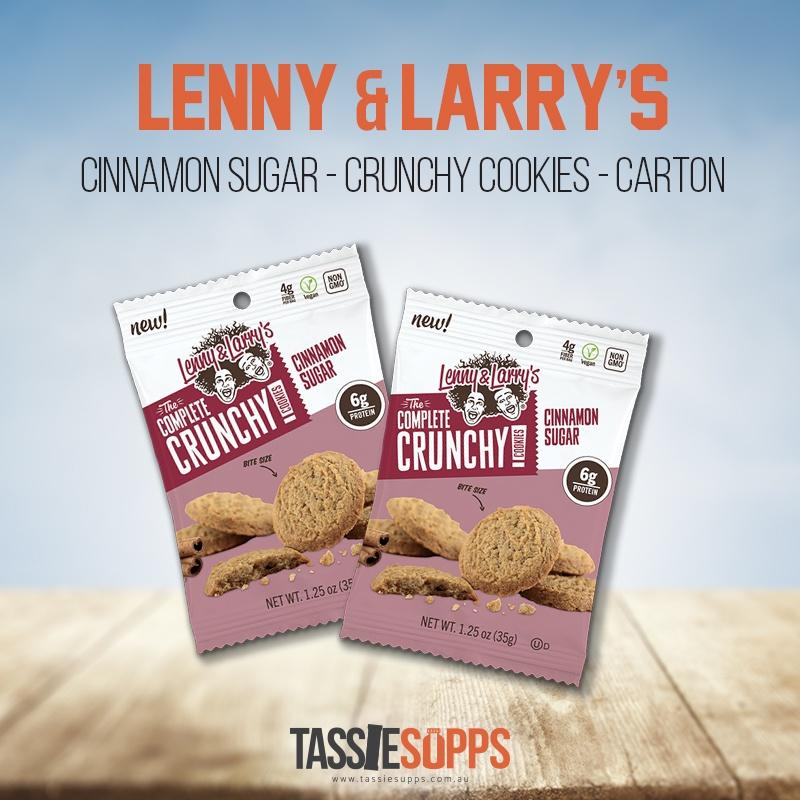 CINNAMON SUGAR 35G - CARTON - CRUNCHY COOKIES - PROTEIN COOKIES | LENNY & LARRY'S - Tassie Supps - Snacks