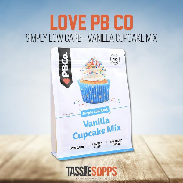 CLASSIC VANILLA LOW CARB CUPCAKE MIX | LOVE PB CO - Tassie Supps - PANTRY