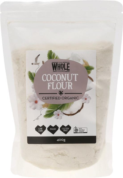 Coconut Flour 400g | THE WHOLE FOODIES - Tassie Supps - PANTRY